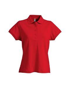 A bright and vibrant cotton polo shirt