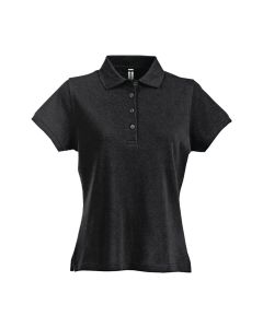 Smart womens black polo shirt 100221