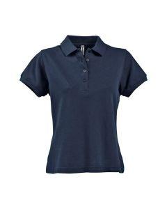 Fristads women's cotton navy blue polo shirt