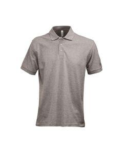 Fristads men's cotton & viscose polo shirt in light grey