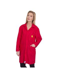 ESD Lab Coats in Red