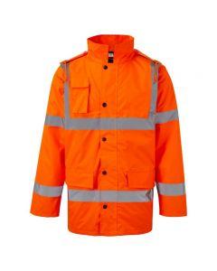 Warrior Hi Vis Orange Motorway Jacket