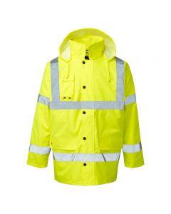 Warrior Hi Vis Yellow Motorway Jacket