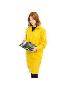 ESD Lab Coats in Yellow