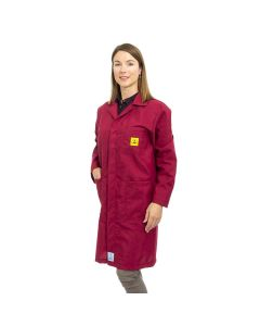 ESD Lab Coats in Burgundy