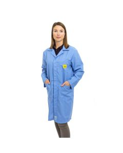 ESD Lab Coats in Light Blue