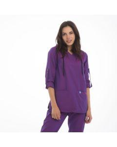 Women's Scrubs Purple Hooded Top