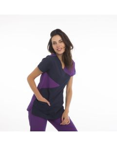 Women's Scrubs Navy and Purple Set