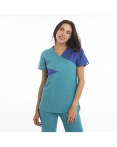 Women's Scrubs Light and Royal Blue Set