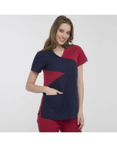 Women's Scrubs Navy and Red Set