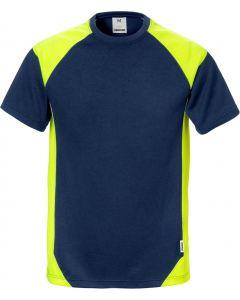 Fristads Navy & Hi-Viz Yellow T-Shirt 122396