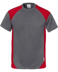 Fristads Grey & Red T-Shirt 122396