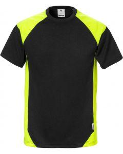 Fristads Black & Hi-Viz Yellow T-Shirt 122396