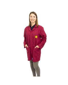ESD Lab Jackets in Burgundy