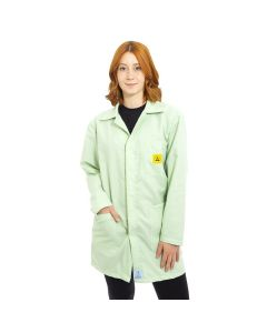 ESD Lab Jackets in Light Green