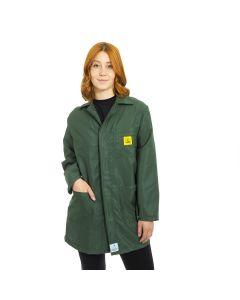 ESD Lab Jackets in Dark Green