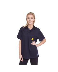 ESD Navy Blue Short Sleeved Polo Shirt