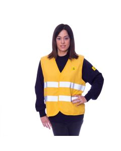 Yellow ESD Hi Vis Jacket