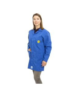 ESD Lab Jackets in Royal Blue