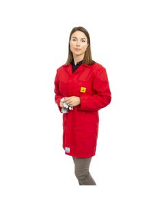 ESD Lab Jackets in Red