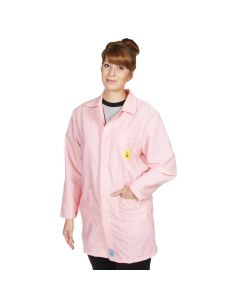 ESD Lab Jackets in Pink