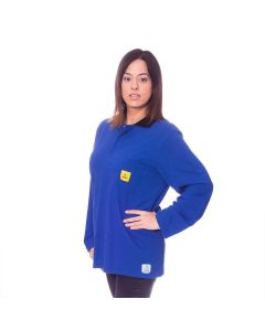 Long sleeved ESD Polo Shirt in Royal Blue