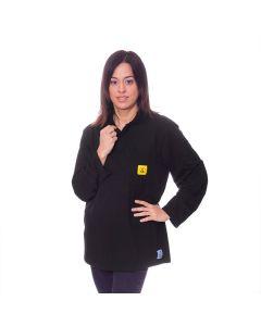 Long sleeved Black ESD Polo Shirts