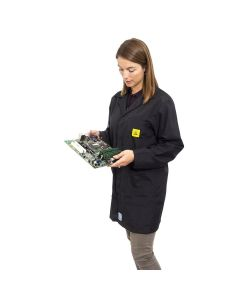 ESD Lab Jackets in Black