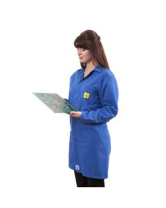 ESD Lab Coats in Royal Blue