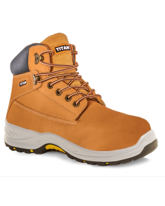 Titan Holton Honey Nubuck Leather Safety Boot - Conforms to EN ISO 20345