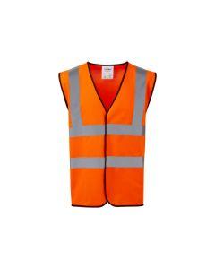 Warrior Orange Hi-Vis Waistcoat which conforms to EN471 : Class 2 EU stantards