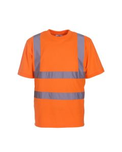 Hi-vis short sleeve t-shirt manufactured from 100% soft feel polyester