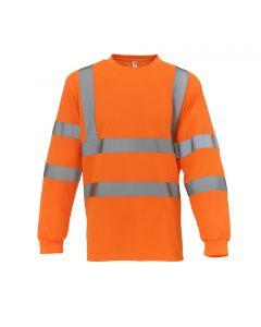 Yoko Hi-Vis Orange Long Sleeve T-Shirt